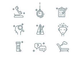 Ícones de estrutura de tópicos de psicólogo vetor