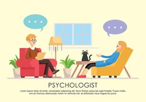 Ilustração vetorial do psicólogo vetor