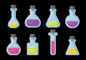Vetor de ícones de taça e garrafa