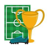 desenhos animados de esporte de futebol isolados vetor