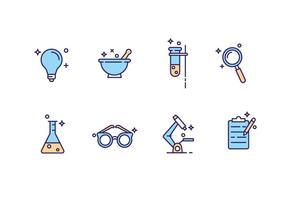 Ícones gratuitos do laboratório de ciências vetor