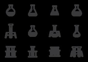 vetor de ícones erlenmeyer