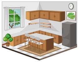 interior da sala de jantar com móveis em estilo moderno vetor