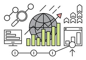 Ícones de sucesso de negócios grátis vetor