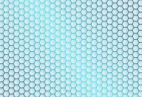 fundo azul do hexágono vetor