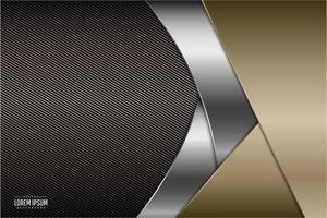 fundo metálico moderno marrom, ouro e prata