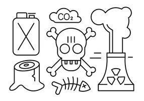 Elementos vetoriais gratuitos sobre a poluição vetor
