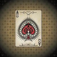 ás de espadas, cartas de pôquer parecem fundo