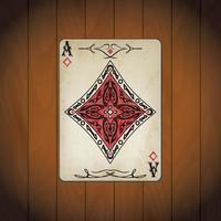 ás de ouros, cartas de pôquer aparência antiga