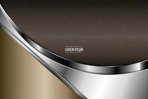 fundo metálico moderno marrom, ouro e prata vetor