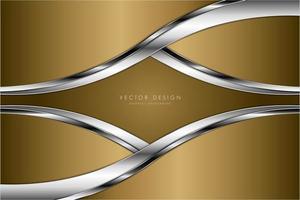 fundo metálico moderno ouro e prata