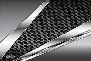 fundo metálico moderno cinza escuro e prata