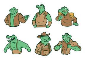 Vetor gratuito de mascote de crocodilo