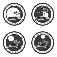palmeiras e sol, logotipo do resort de praia