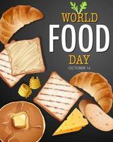 banner do dia mundial da comida vetor