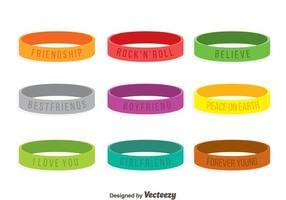 Vetor colorido da coleção de pulseira