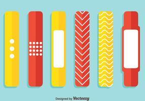 Vector de pulseira vermelho e amarelo