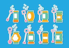 Conjunto de ícones do Bubble Blower vetor