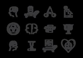 Vector de ícones psicologicos