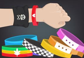 Coleção colorida de pulseiras vetor