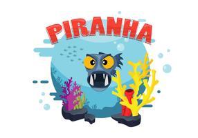piranha vector ilustração