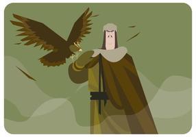 Vetor Mongol da águia