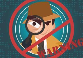 Aviso de vigilância da vizinhança vetor