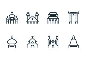 Ícone de construção religiosa vetor