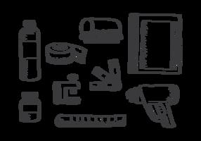 Vetor de ícones de impressão de tela