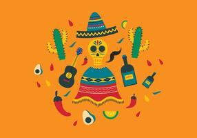 Ilustração livre do vetor dos ícones do México
