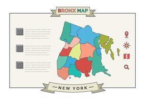 vetor gratuito do mapa de Nova York
