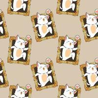 gato kawaii perfeito saindo de um padrão de imagem