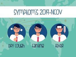 banner de prevenção e sintomas de coronavírus