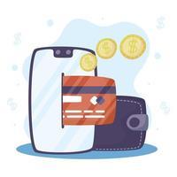 tecnologia de pagamento online no telefone vetor