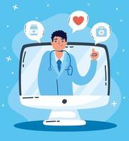 tecnologia de saúde online via computador