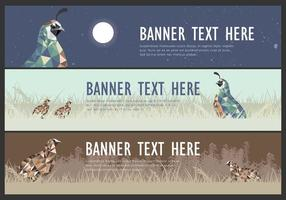 web banner quail low poly vector