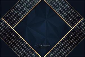 fundo metálico luxuoso azul e dourado vetor
