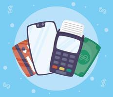 tecnologia de pagamento online com smartphone