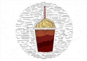 Ilustração desenhada mão à mão da ilustração do copo de café vetor