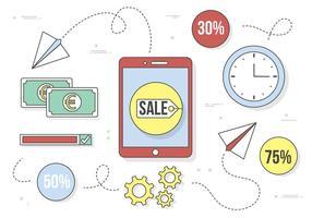 Elementos e ícones de negócios gratuitos de design plano de vetores