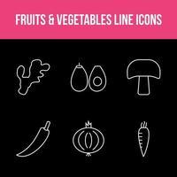 conjunto exclusivo de aplicativos de frutas e vegetais