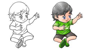 desenho infantil para colorir para crianças vetor