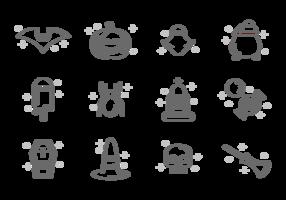 Vetor de ícones de Halloween