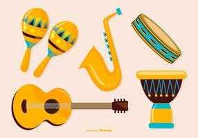 Coleção de Instrumentos de Música vetor