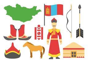 Vetor de ícones mongóis grátis