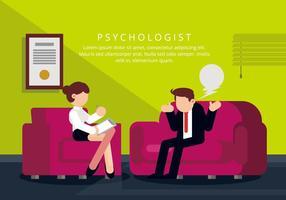 Ilustração do psicólogo vetor