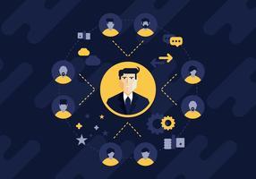 Referência profissional e ilustração de rede vetor