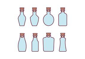 Conjunto de ícones de garrafas vetor