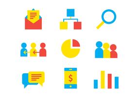 Ícones de negócios e referências