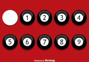 bola 9 preta em vetor vermelho